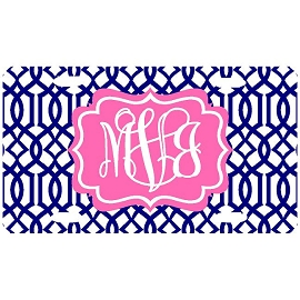 Monogrammed Pattern License Plate