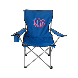 Monogrammed Tailgate Chair (blue)