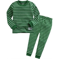 Youth Green Stripe Pajamas